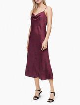 $119.50 Calvin Klein Printed Cowl Neck Sleeveless Long Slip Dress, Zinfa... - $39.59