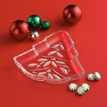 Lenox Etched Holly Berry, Tree Shaped Candy Dish - $44.00