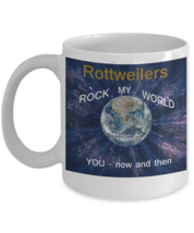 Dog Lover Rottweiler Coffee Mug White 110Z. - $14.92
