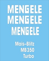 MENGELE MB 350 - Combine Harvester decal set, reproduction - $65.00