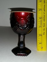 Vintage Avon 1876 Cape Cod Pattern Ruby Red Cordial Glass with Brand New... - $6.99