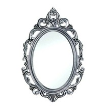 Silver Royal Crown Oval Wall Wood Mirror - $29.65