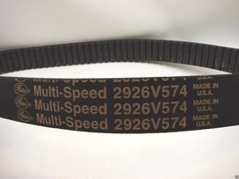"Gates Multi-Speed 2926V574 Belt 1-13/16"" Top Width, 26-Degree Angle 58"" ... - $29.69"
