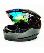 carbon fiber Motorcycle Modular Full Face Helmet color Visor Sun Shield Matt Bla - $99.99