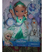 Disney Frozen Snow Glow Elsa Princess Doll Dress Lights Up Sings Let It ... - $64.00