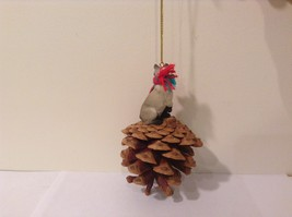 Siamese Cat Real Pinecone Pet Ornament Decoration with Red/Green Scarf, New image 3