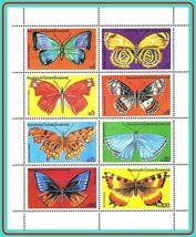 EQUATORIAL GUINEA = BUTTERFLIES perforated M/S MNH ** INSECTS - $1.93