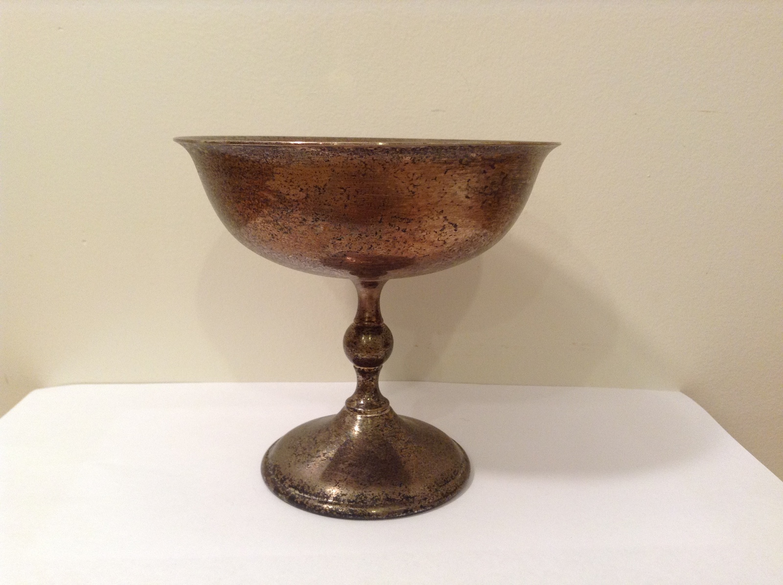 Vintage WA Italy Goblet / Wine Cup Silver Plated Natural Patina
