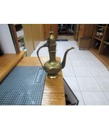 "1950'S BRASS ARABIC STYLE COFFEE POT   7"" HIGH   5"" WIDE      - $24.00"