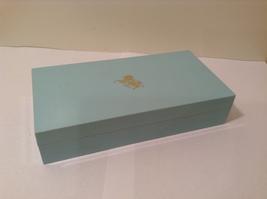 Vintage Elizabeth Arden Turquoise Plastic Box with Molded Gold Horse - $39.99