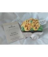 "Signature Hallmark Bezel Porcelain Flower Cart Trinket Box ""Thinking Of ... - $6.95"
