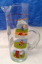 Golfer Martini Pitcher Glass Beaker Style Barware - Ashby Golf Cartoon image 3