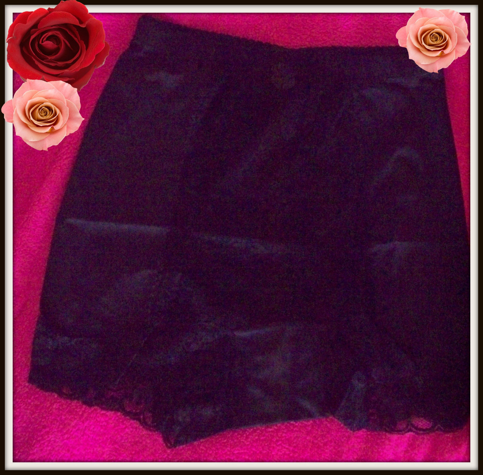 Primary image for S Small  RHONDA SHEAR BLACK  Shabbie Chic LACE Control Brief PANTIE Boyshort