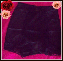 S Small Rhonda Shear Black Shabbie Chic Lace Control Brief Pantie Boyshort - $7.99