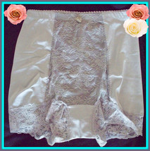 S Small Rhonda Shear Gray Shabbie Chic Lace Control Brief Pantie Boyshort - $8.99