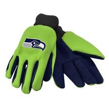 Seattle Seahawks Gloves Fan Apparel Hands Glove NFL Utility Green Blue Gift - $17.57