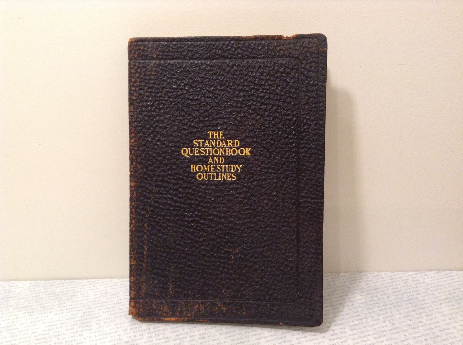 The Standard Question Book and Home Study Outlines 1922 Edition