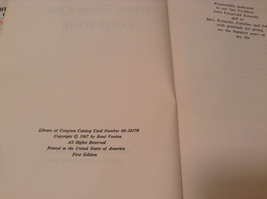 The White House Chef Cook Book by Rene Verdon 1968 First Edition image 3
