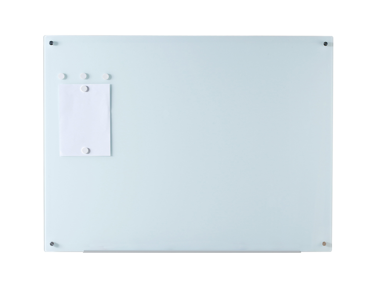 """35 ½"""" x 47 ¼"""" Magnetic Glass Dry Erase Board Set w/ Tray, & 5 Magnets"""
