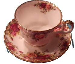 Royal Albert Old Country Roses cup  saucer bone china England Free ship ... - $32.99