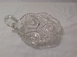 Vintage American Brilliant Lead Crystal Candy Dish / Bowl / Candle Holder image 2
