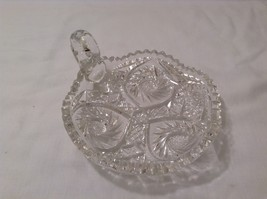 Vintage American Brilliant Lead Crystal Candy Dish / Bowl / Candle Holder image 3