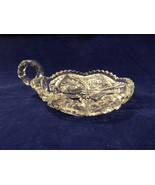 Vintage American Brilliant Lead Crystal Candy Dish / Bowl / Candle Holder - $49.99