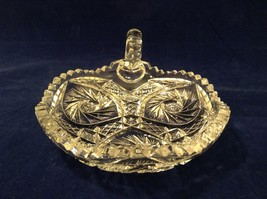 Vintage American Brilliant Lead Crystal Candy Dish / Bowl / Candle Holder image 10