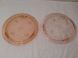 Vintage Pink Depression Glass Cake Plate / Stand Floral Design - Dark Pink image 9