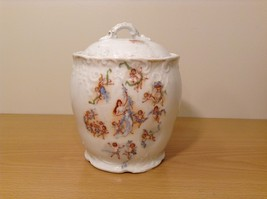Vintage Victoria Carlsbad Austria Porcelain Kitchen Canister Cookie Jar with Lid