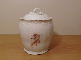 Vintage Victoria Carlsbad Austria Porcelain Kitchen Canister Cookie Jar with Lid image 2