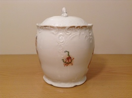 Vintage Victoria Carlsbad Austria Porcelain Kitchen Canister Cookie Jar with Lid image 3