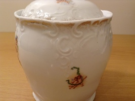 Vintage Victoria Carlsbad Austria Porcelain Kitchen Canister Cookie Jar with Lid image 12