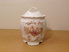 Vintage Victoria Carlsbad Austria Porcelain Kitchen Canister Cookie Jar with Lid image 1