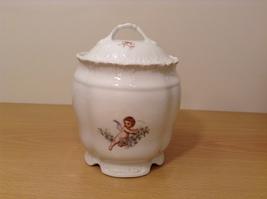 Vintage Victoria Carlsbad Austria Porcelain Kitchen Canister Cookie Jar with Lid image 2