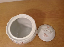 Vintage Victoria Carlsbad Austria Porcelain Kitchen Canister Cookie Jar with Lid image 6