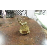"BRASS  WIND UP MUSICAL  DEAR  6"" HIGH ON 3"" BASE    - $29.00"