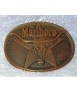 Marlboro Cigarette Philip Morris 1987 Men's Brass Belt Buckle - $8.00