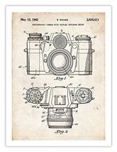 Vintage 35 Mm Camera Invention Poster 1962 Us Patent Print 18 X24 Sauer Photogr... - $24.97
