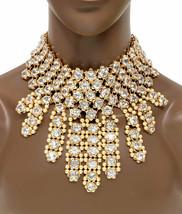 2 Déclaration Plastron Ras Du Cou Colliers In1 Faux Perle Cristal Concours Drag - $67.28
