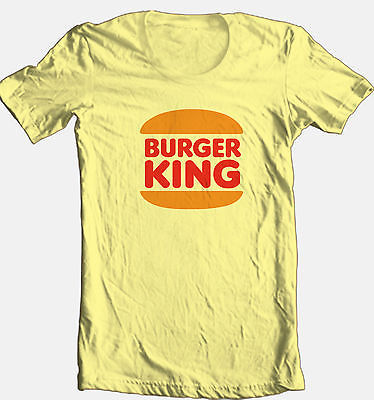 Burger King T-shirt retro 70's 80's fast food 100% cotton graphic printed tee