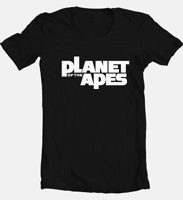 Planet of the Apes logo T-shirt Vintage 70's Sci fiction movie retro cotton tee