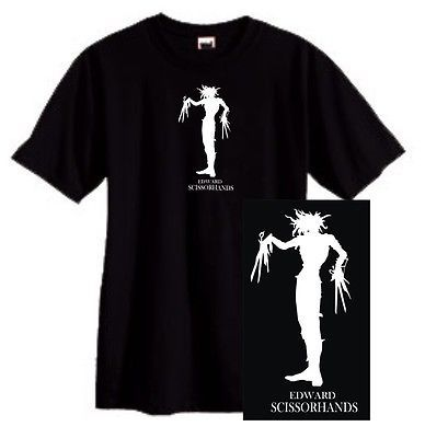Edward Scissorhands T shirt gothic 90's movie film punk emo cotton graphic tee