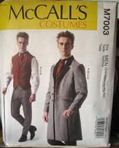Pattern 7003 Men's Sz Sm- XXL Victorian, Steampunk Vest, Coat, Pants, & Tie - $7.99
