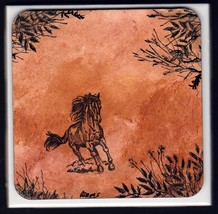 Great Gift Idea Horse Coaster Hand Painted and ... - $14.50