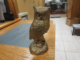 "SOLID BRASS OWL   5"" HIGH ON 2 ½"" BASE - $12.38"