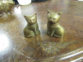P.P. ENTERPRISE HAN MADE SOLID BRASS PAIR OF  CATS - $12.38