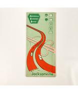 1950s Jacksonville Expressway System Road Map Flroida FL Vintage Travel - $10.00