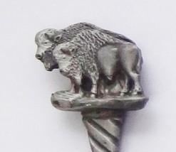 Collector Souvenir Spoon USA South Dakota Buffalo Bison Pewter - $14.99