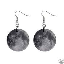 "Full Moon 1"" Round Button Earrings New - $2.85"